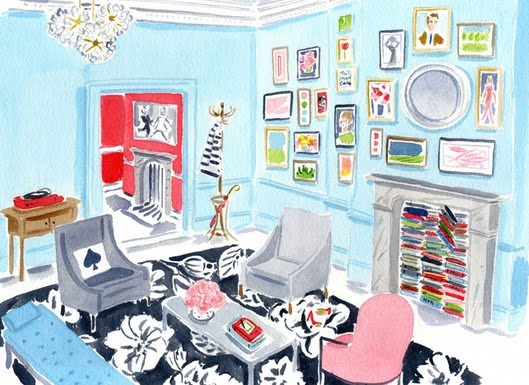 This Is A Great Stylized Interior Sketch Of Their London Pop Up Store. I  Think One Of The Tricks To The Welcoming Warmth They Create Is The Fact  That Their ...