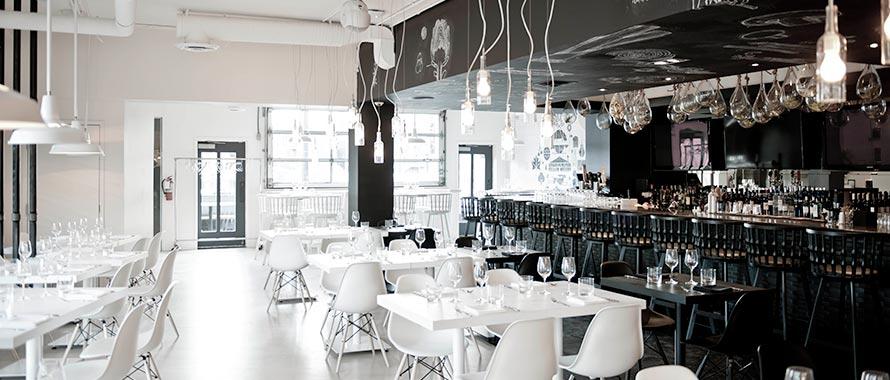 Market interior dining and bar